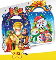 Упаковка праздничная новогодняя из картона Св.Миколай, 700г