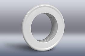 Фланец декоративный под оцинкованную трубу d=85 мм, металл/порошковое покрытие, цвет белый