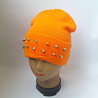 Молодежная двойная шапка + подворот с шипами