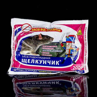"""Родентицид """"Щелкунчик"""" тесто (колбаски) 200 г - тестовая приманка для уничтожения крыс и мышей, фото 2"""