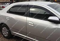 Ветровики окон Шевроле Кобальт 2 (дефлекторы боковых окон Chevrolet Cobalt 2)