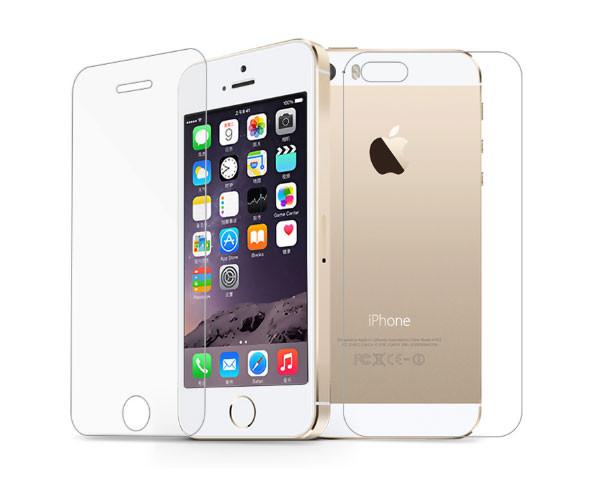 Захисне скло (переднє+заднє) для Apple iPhone 5/5S/5SE