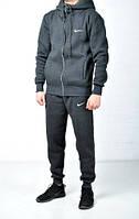 Утепленный спортивный костюм мужской Nike (найк), серый