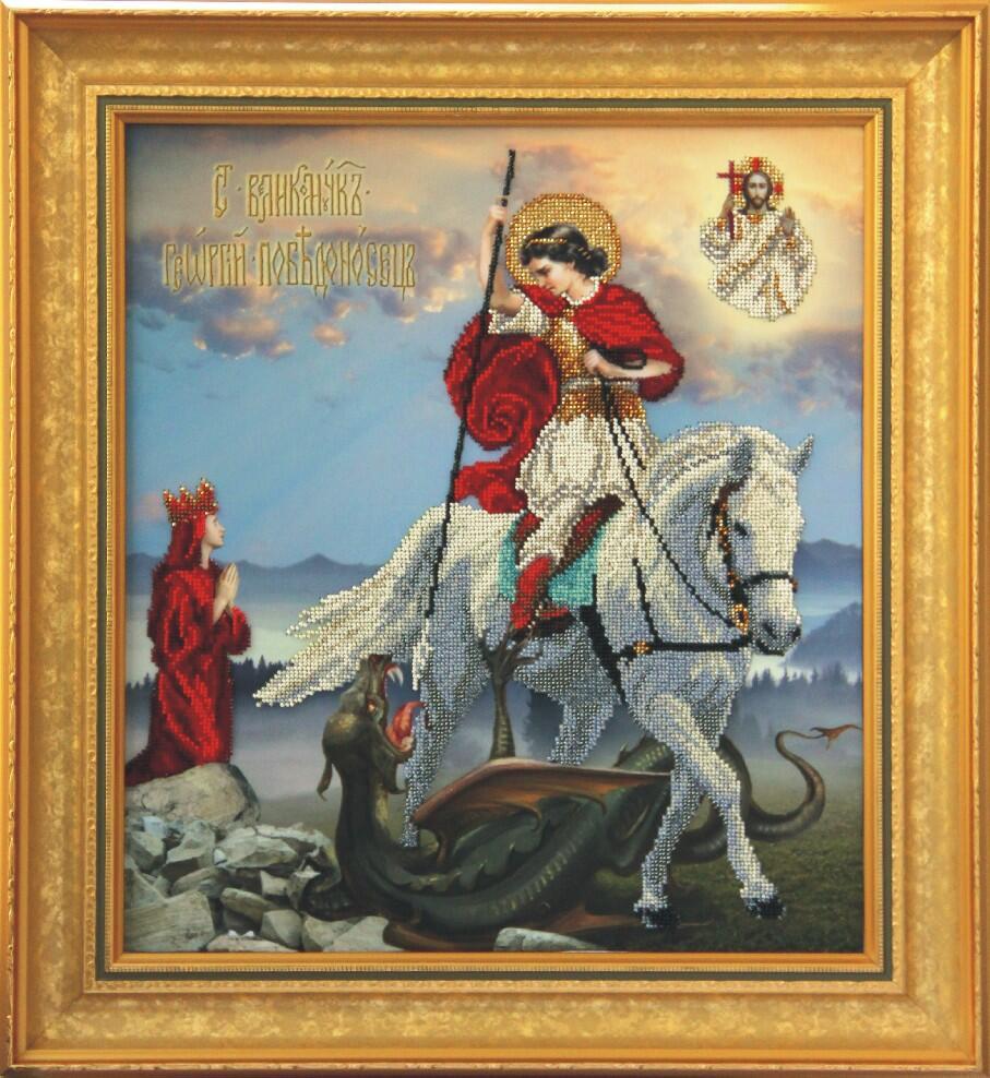 """Набор для вышивания бисером """"Св. Георгий"""""""