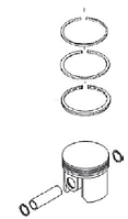 Поршень компрессора 75,5мм (без колец) 2 -Й ремонт +0,50мм - WA.5000.038.1