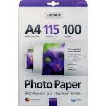 Фотобумага Videx глянцевая ( формат А4, плотность 115 г/м2 односторонняя глянцевая ) 100 листов