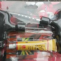Набор для ремонта бескамерных шин (нить+клей+инструмент)