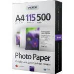 Фотобумага Videx глянцевая ( формат А4, плотность 115 г/м2 односторонняя глянцевая ) 500 листов