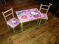 Детский стол+2 стульчика для девочки Kitty
