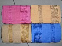 """ЛИЦЕВОЕ махровое полотенце """"Версаче"""", Венгрия (РОЗОВОЕ) 3330"""