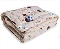 Детское одеяло зимнее овечья шерсть Барашка 140х105 Руно