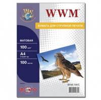 Фотобумага WWM, матовая 100 г, A4, 100 л
