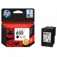 HP 650, Оригинальный картридж HP Ink Advantage, черный