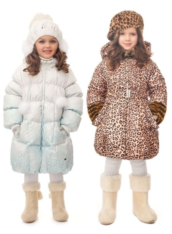 Детские зимние пальто для девочек оптом