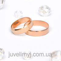 Обручальные кольца Европейка с алмазной гранью 2.33, 143405, 17.5