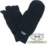 Перчатки/рукавицы Бундесвера для рыбалки трикотажные Тинсулейт MFH 15457A (Чёрные) (до -20)