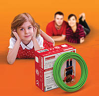 Тёплый пол E.Next, двухжильный нагревательный кабель e.heat.cable.t.17.1650Вт на 9,7 — 12,1 м²