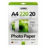 Фотобумага Videx глянцевая ( формат А4, плотность 220 г/м2 односторонняя глянцевая ) 20 листов