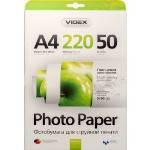 Фотобумага Videx глянцевая ( формат А4, плотность 220 г/м2 односторонняя глянцевая ) 50 листов