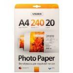 Фотобумага Videx глянцевая ( формат А4, плотность 240 г/м2 односторонняя глянцевая ) 20 листов