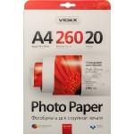 Фотопапір Videx глянцева ( формат А4, щільність 260 г/м2 одностороння глянцева ) 20 аркушів