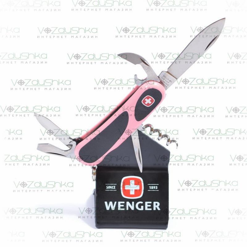 Нож Wenger Evogrip Pink 10 модель 1.10.09.891