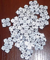 100 шт. Марки геодезические 20x20 мм – белые
