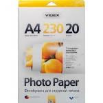 Фотобумага Videx глянцевая ( формат А4, плотность 230 г/м2 двухсторонняя глянцево-матовая ) 20 листов