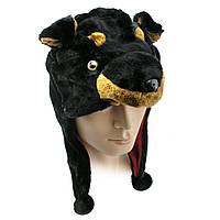 Шапка маска Собака (черная), фото 1