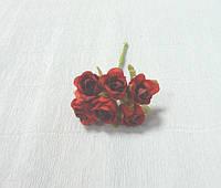 Цветы искусственные-101. Розы красно-бордовые, 2см