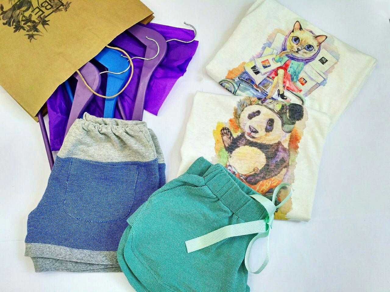 Набор : шортики + футболка - COLOURS FOR LIFE в Николаеве