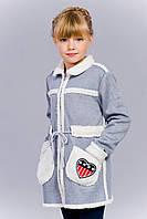 Детское пальто на плюшевой подкладке