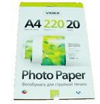 Фотопапір Videx двостороння матова ( формат А4, щільність 220 г/м2 двосторонній матова ) 20 аркушів