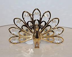Фигурка с кристаллами Сваровски Павлин 14 см AR-3107