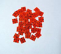 100 шт. Марки геодезические 20x20 мм ОРАНЖЕВЫЕ