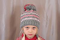 Теплая красивая удобная шапочка на флисе с помпоном.