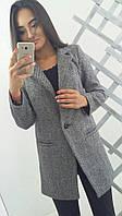 Женское сероетвидовое пальто