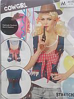 Helloween или карнавал  Чудесная современная стильная футболка ковбойки хеловін хэлоуин, фото 1