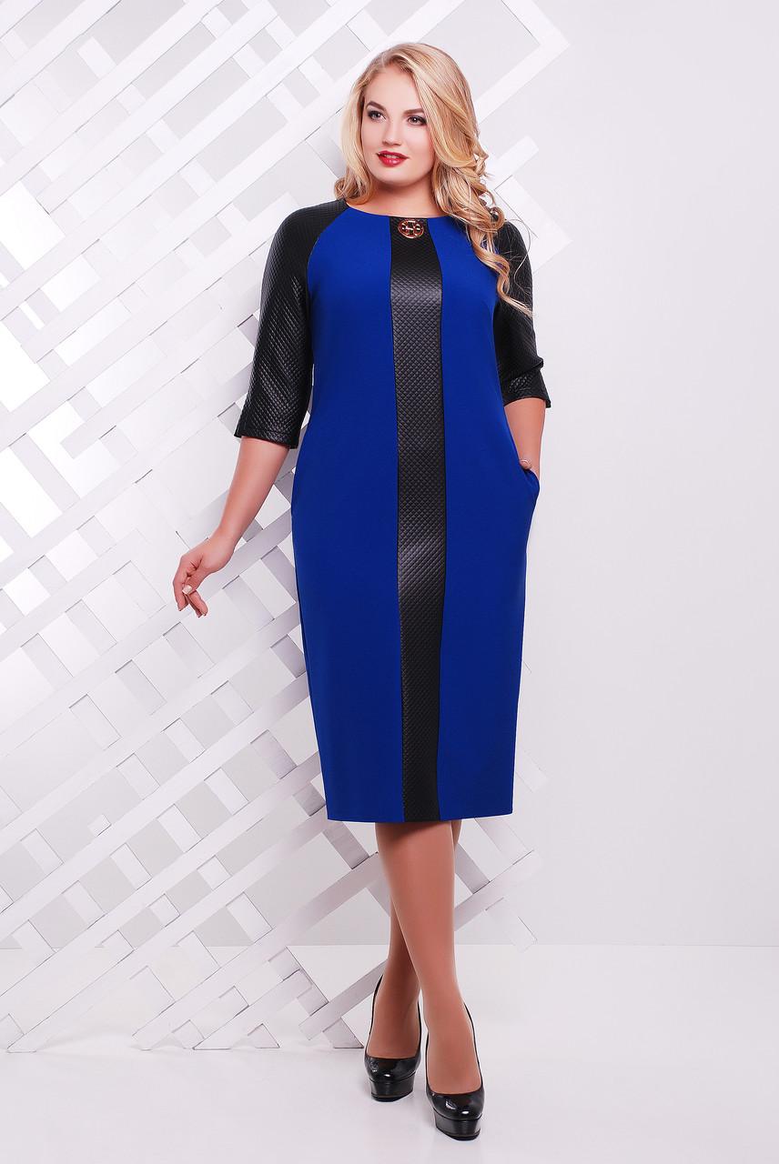 Платье женское Монро электрик экокожа