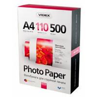 Фотобумага Videx матовая ( формат А4, плотность 110 г/м2 односторонняя матовая ) 500 листов
