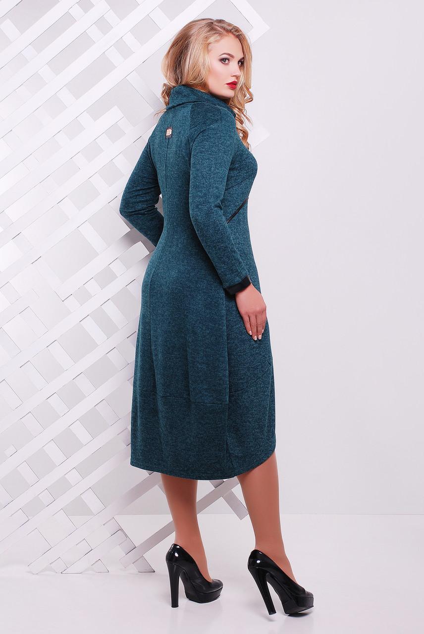 Платье Шарлотта бутылочного цвета - 401596601 8c0a6c46daa01