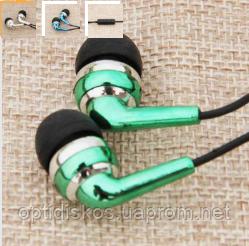 Гарнитура мобильная, model-2, черно-зеленая