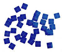 100 шт. Марки геодезические 20 x 20 мм – голубые