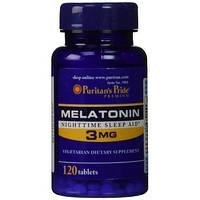 Витамины и минералы Puritan's Pride Melatonin 3 mg (120 tabs)