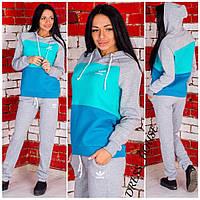 Женский теплый спортивный костюм Adidas Размеры С и М