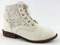 Ботиночки с ажурными довязами White, р.36-41
