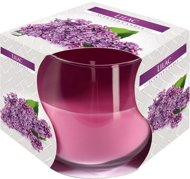 Свеча ароматическая в стекле Bispol Сирень 7 см (sn71-38)