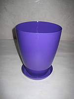 """Вазон-кашпо """"МАТИЛЬДА"""" с подставкой V=2,3л (d=15см h=18,5см) фиолетовый """"Омела"""""""