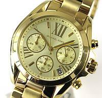 Женские часы Michae-l Kor-s MK5798 Parker Gold-Tone Crystal Chrono , фото 1