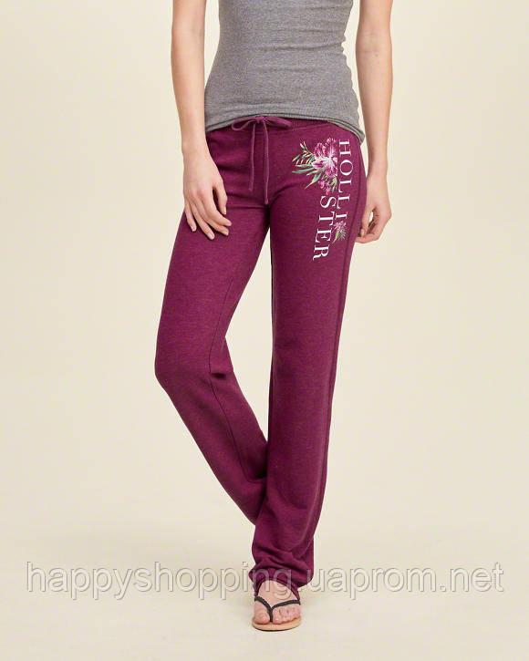 Бордовые спортивные штаны Hollister